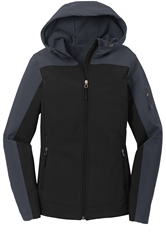 #LS335 Womens Hooded Softshell ls335