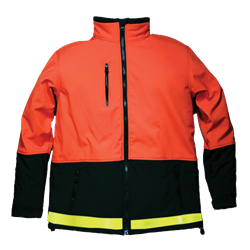 #R35J Reflective Hi-Vis Orange Softshell Freezer Jacket